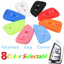 4 Buttons Silicone Fob Key Case Shell Cover  For BMW X1 F48 X3 X4 X5 X6 16 - 17