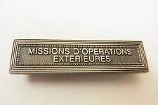 AGRAFE BARRETTE MISSIONS OPÉRATIONS EXTÉRIEURES