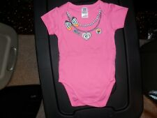 Green Bay Packers New Pink NFL Auth. One Piece Baby Outfit 3-6, or 6-12 Mths.