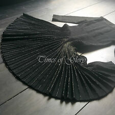 £ 2.5K+ Nouveau Azzedine Alaia Noir Lurex Full patineuse courte robe de cocktail Taille FR36