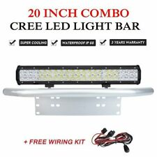 20inch 294W CREE LED Light Bar Spot Flood Driving Offroad Number Plate Frame
