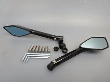 CNC Alu Miroir Guidon Miroir Noir Mirror kawasaki z750 z1000 2003 -