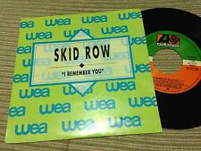 "SKID ROW SPANISH 7"" SINGLE SPAIN SAME SIDED I REMEMBER YOU HARD ROCK HEAVY METAL"