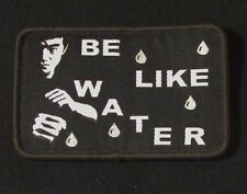 BE LIKE WATER BRUCE LEE TACTICAL US ARMY MILITARY MORALE SWAT VELCRO PATCH