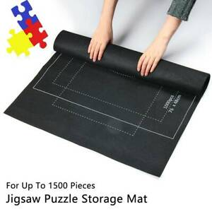 Puzzle Mat Roll Up for Jigsaw Puzzles Up to 1500 Pcs Storage Puzzle Saver US