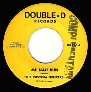 """CUSTOM OFFICERS-me nah run    double d 7""""  (hear)    reggae  black ark studio"""