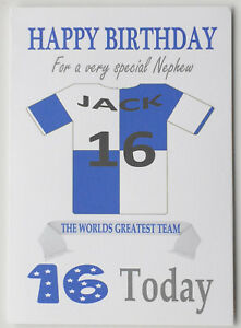 """""""Bristol Rovers Style"""" Personalised UNOFFICIAL Football Birthday card"""