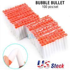 100pcs Bullet Darts For NERF Kids Toy Gun N-Strike Round Head Blasters White US