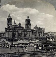 Keystone Stereoview Cathedral de la Constitucion, Mexico From RARE 1200 Card Set