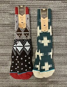 2 Pairs of Mens Stance Reserve Collection Socks Large 9-12