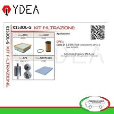 Kit Tagliando Filtri Opel Corsa D 1.2 GPL-Tech 63 KW 86 HP 11> - Ydea K153OL-G