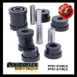 Alfa Romeo Spider (05-10) Powerflex Black Rear Trail Arm Bushes PFR1-510+511BLK