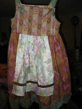 NEW NWOT GEn Marie Amber Vineyard Apron Knot Dress Size 8 GENMarie