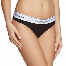 Calvin Klein Underwear Women's CK Modern Cotton Thong, String, Black