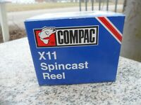 Vintage Compac Drag X 11 Spincast Fishing Reel X11 Ontario Canada New In Box
