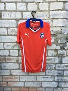 PUMA CHILE NATIONAL TEAM 2014 2015 HOME SOCCER Shirt Jersey Size S Excellent