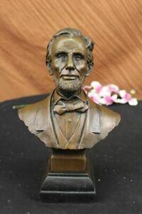 Bronze Abraham Lincoln Abe Presidential Bust Civil War Gettysburg DC Art Rare