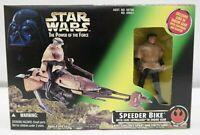 Star Wars Power of the Force Speeder Bike w/ Luke Skywalker in Endor gear  TY