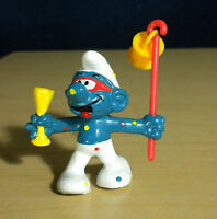 Smurfs 20107 Carnival Smurf New Years Party Figure 80s Vintage Toy PVC Figurine