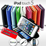 NEW Premium Leather Stand Wallet Flip Case Cover For iPod Touch 5 5G 5TH GEN SYD