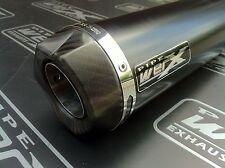 Kawasaki ZX10R ZX-10R 2011 2012, Powder Black GP, Carbon Outlet Race Exhaust Can