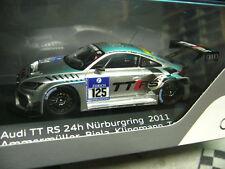 Audi tt rs 24h nurburgring 2011 #125 biela Ammermüller Tomczyk resin Spark 1:43
