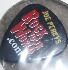 JOE PERRY ROCK YOUR WORLD BLACK Guitar Pick...AEROSMITH