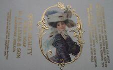 RARE ANTIQUE 1906 UNUSED ORNATE ART NOUVEAU LILLIE LANGTRY SOAP BAR WRAPPER
