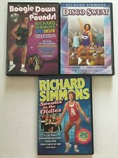 Richard Simmons 3 DVD Lot Boogie Down, Disco Sweat, Sweatin' to the Oldies
