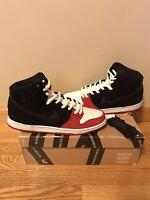 "Nike SB Dunk High ""Uprise"" Collaboration Size 11 Rare 2013 Skate Shoe Bred"