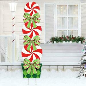 Candy Christmas Holiday Decorations Outdoor Peppermint Xmas Yard Stakes Giant.