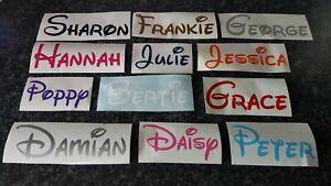 Personalised Custom Name Vinyl Sticker Decal,Water Bottle,Disney Font Stickers
