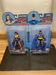Series 4 All Star Comics Super Squad Batman & Wonder Woman Action Figure Lot