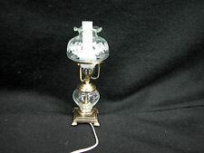 Heidi Ott Dollhouse Miniature  Light Table Oil Lamp w/glass Shade #YL1026-BR