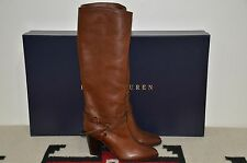 Ralph Lauren Collection Purple Label Leather Equestrian Tall Riding Boots 8.5 B