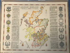 Military Scotland 1890 Map - Reprint (59 X 44cm)