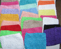 Lovely Girls Kids Crochet Tube Top Waistband Headband Tutu Skirt DIY Hair Accs