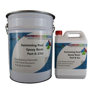 Swimming Pool Under Water Chemical Resistant Epoxy PreTinted 2Pack 3A:1B EasyDIY