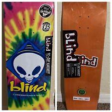 """Blind Skateboard Deck Tie Dye 8.25"""" Reaper Scouts America Brand New Psychedelic"""
