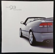 Saab 93 Convertible Brochure 2002 - June 2001 Issue