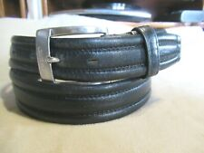 Mens Black COMME CA MEN Leather Belt SZ 32 Small Mens