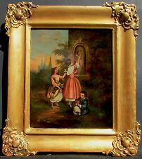 19th C.  European Small Genre Painting. Oil on copper.