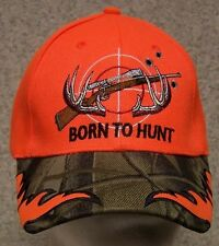 Embroidered Baseball Cap Hunting Born to Hunt NEW 1 hat size fits all
