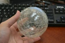 """REPRODUCTION CLEAR WHITE HAND BLOWN GLASS FLOAT BALL BUOY 4"""" #F-507C"""