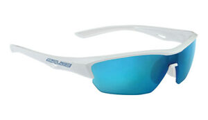 SALICE 011 Sport Sunglasses White / Blue includes case and extra clear lens