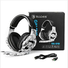Gaming Headset Stereo Sound Wired Gaming Headphones for Ps4 PC Computer Mac UK