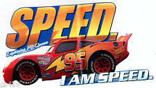 """9"""" DISNEY CARS MCQUEEN  CHARACTER  PEEL STICK WALL BORDER CUT OUT"""