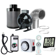 4'' Fan Filter Ducting Combo +Fan Speed Controller + Thermometer + 24 Hour Timer