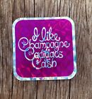 "Vintage Prismatic Decal 1970s Vending Machine Sticker 3x3"" Cadillacs Champagne"