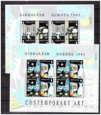 36889) GIBRALTAR MNH** 1993 Europa Cept M/S(2) x4v